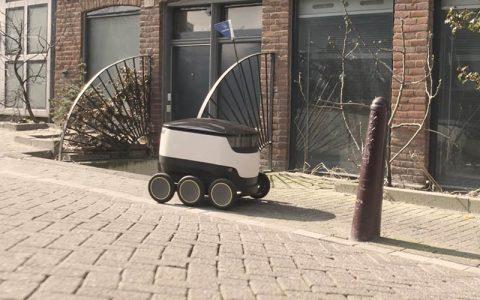 Bezorgrobots in Amsterdam
