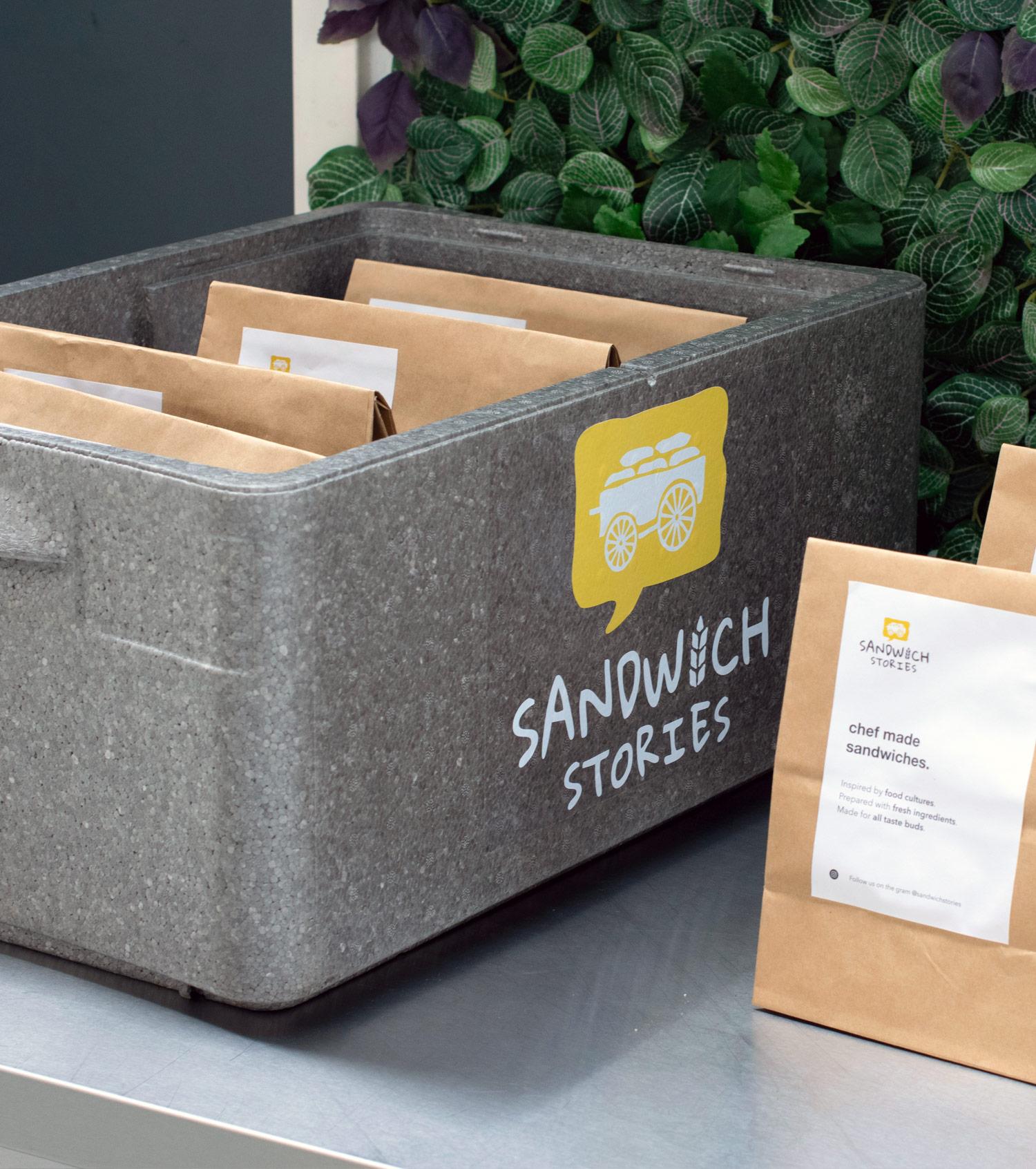 Broodjes bestellen op werk