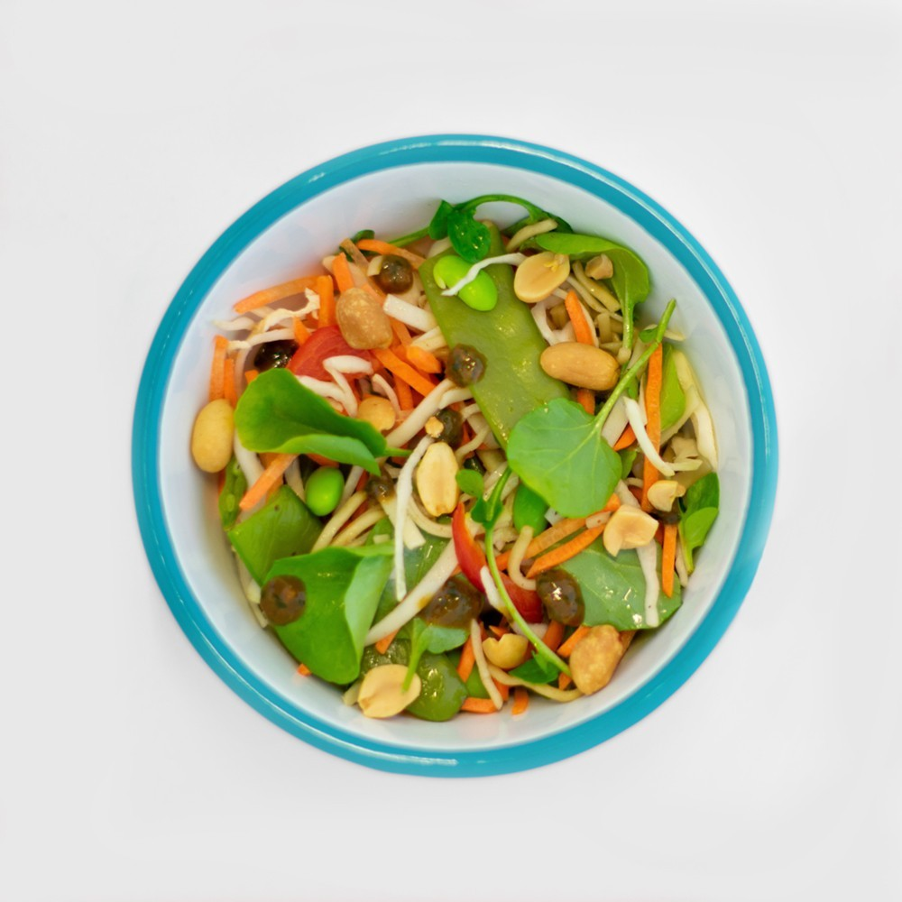 pad thai salade en belegde broodjes