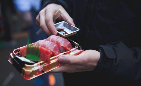 Sashimi van tonijn